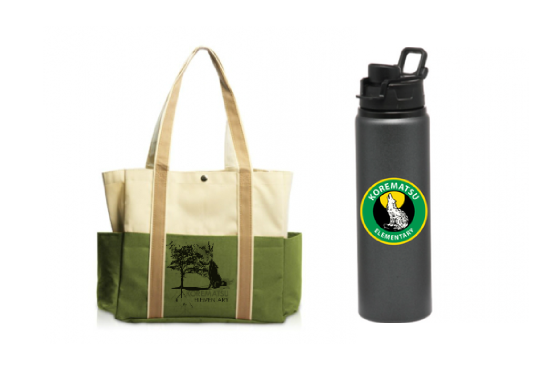 bag and water bottle